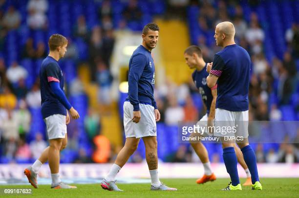 Everton's Kevin Mirallas during warmup