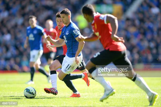 Everton's Kevin Mirallas in action