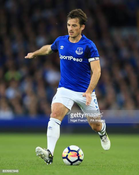 Everton's Leighton Baines during the UEFA Europa League PlayOff First Leg match at Goodison Park Liverpool PRESS ASSOCIATION Photo Picture date...