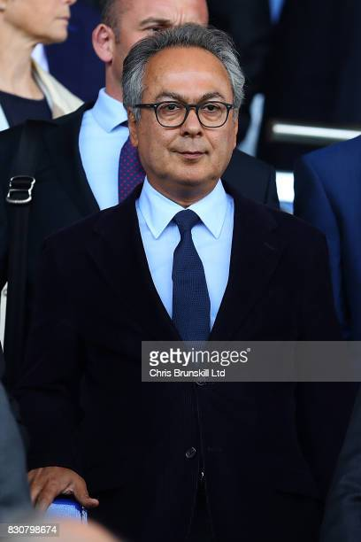 Everton's majority shareholder Farhad Moshiri looks on during the Premier League match between Everton and Stoke City at Goodison Park on August 12...