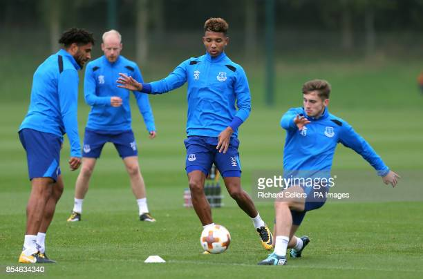 Everton's Mason Holgate during the training session at Finch Farm Liverpool