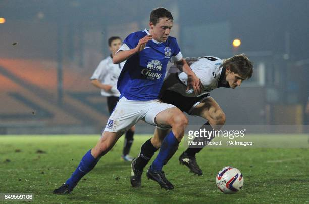 Everton's Matthew Pennington battles for the ball during the FA Youth cup match at Vale Park Stoke on Trent PRESS ASSOCIATION Photo Picture date...