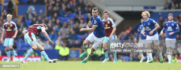 Everton's Morgan Schneiderlin during the Premier League match between Everton and Burnley at Goodison Park on April 15 2017 in Liverpool England