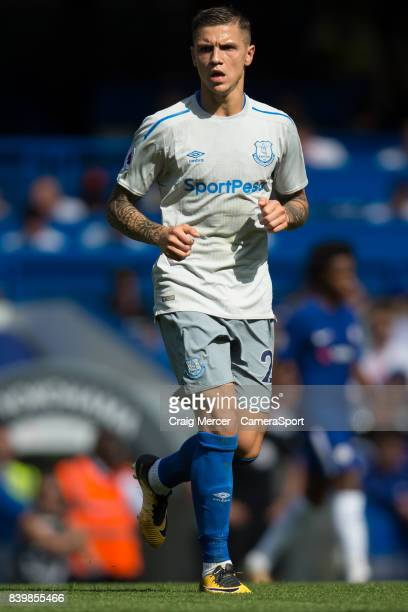 Everton's Muhamed Besic during the Premier League match between Chelsea and Everton at Stamford Bridge on August 27 2017 in London England