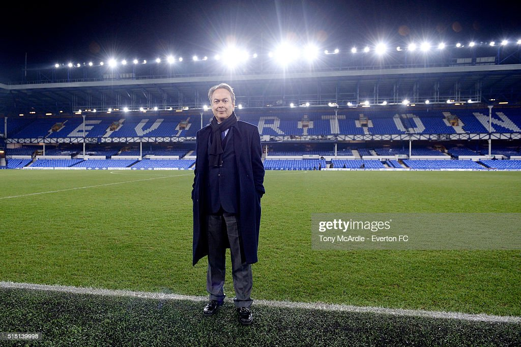 Everton's new major share holder Farhad Moshiri poses for a photo after The Emirates FA Cup Sixth Round match between Everton and Chelsea at Goodison Park on March 12, 2016 in Liverpool, England.