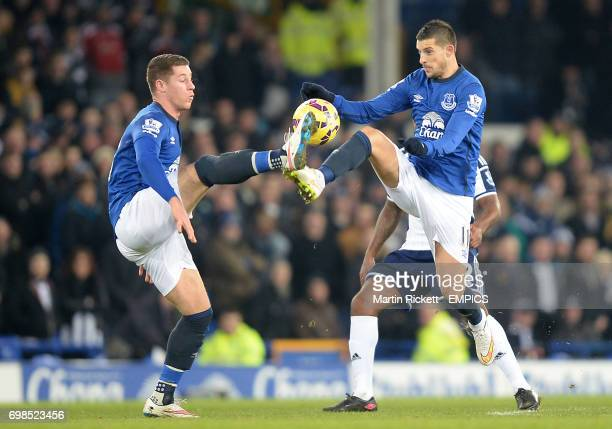 Everton's Ross Barkley and Everton's Kevin Mirallas