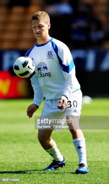 Everton's Shkodran Mustafi during the Barclays Premier League match at Molineux Wolverhampton