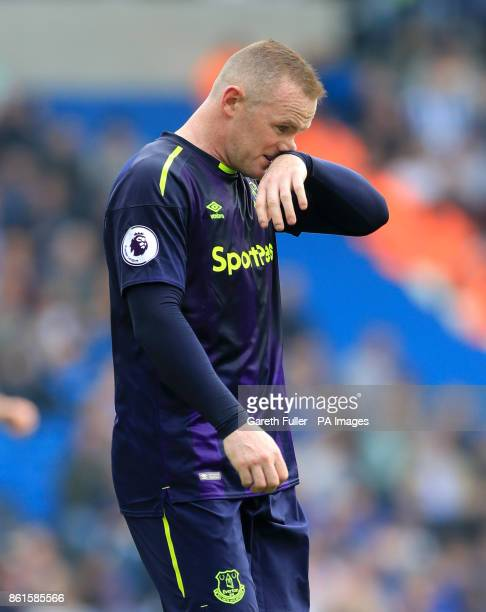 Everton's Wayne Rooney during the Premier League match at the AMEX Stadium Brighton