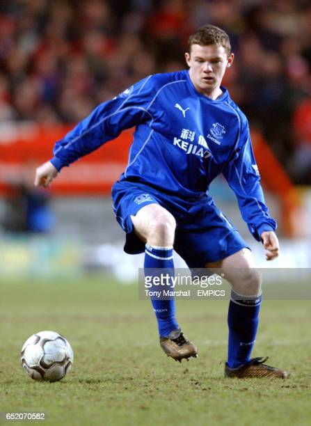 Everton's Wayne Rooney in action against Charlton Athletic