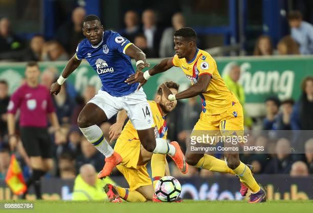 Everton's Yannick Bolasie and Crystal Palace's Wilfiried Zaha