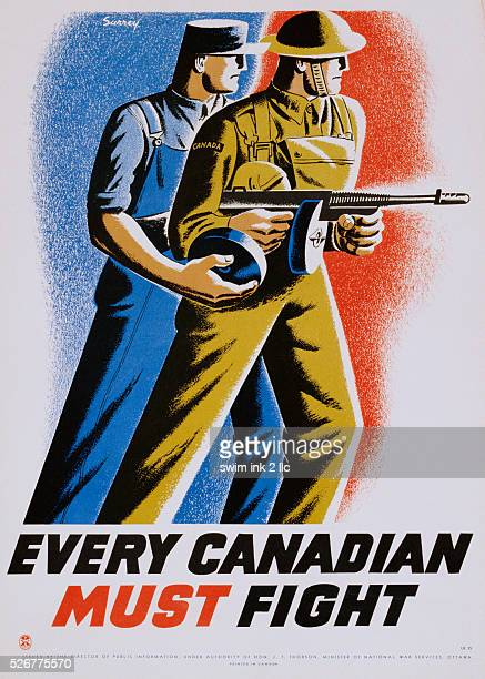 Every Canadian Must Fight Poster by Philip Surrey
