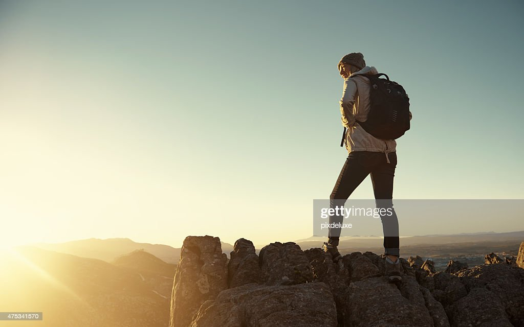 Every step was worth it : Stock Photo