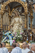 Every year a procession is held on the occasion of 'Festival de Noantri' through the streets of Trastevere in Rome with the statue of the Madonna del...
