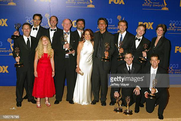 'Everybody Loves Raymond' cast members Madylin Sweeten Peter Boyle Patricia Heaton Ray Romano with producers writers won for Best Comedy Series