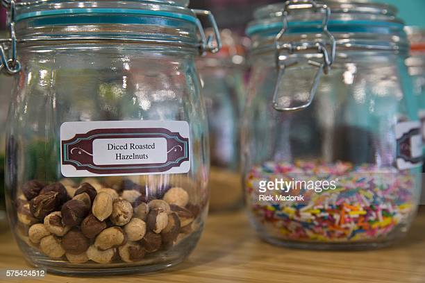 Everything from sprinkles to nuts can be dipped Francisco Landaeta and Sam Arif coowners cofounders of la Diperie at their newest corporate store on...