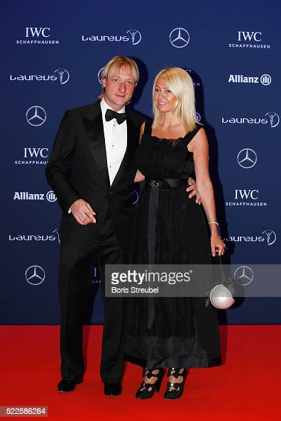 Evgeni Plushenko and guest attend the 2016 Laureus World Sports Awards at Messe Berlin on April 18 2016 in Berlin Germany