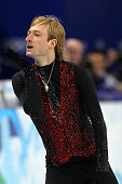 Evgeni Plushenko of Russia competes in the men's figure skating free skating on day 7 of the Vancouver 2010 Winter Olympics at the Pacific Coliseum...