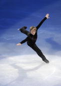 Evgeni Plushenko of Russia performs at the Exhibition Gala following the Olympic figure skating competition at Pacific Coliseum on February 27 2010...