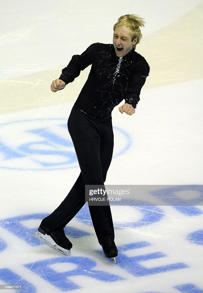 Evgeni Plushenko of Russia performs during the men's short program during the European Figure Skating Championships in Zagreb on January 24, 22013.
