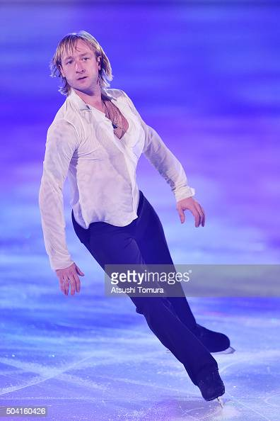 Evgeni Plushenko of Russia performs his routine during the NHK Special Figure Skating Exhibition at the Morioka Ice Arena on January 9 2016 in...