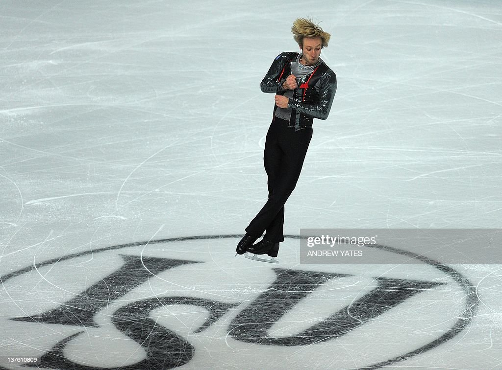 Evgeni Plushenko of Russia performs in the Mens free skate preliminary round during the European figure skating championships at the Motorpoint Arena in Sheffield, north-west England on January 23, 2012.