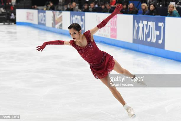 Evgenia Medvedeva of Russia competes during the figure skating Japan Open at Saitama Super Arena on October 7 2017 in Saitama Japan