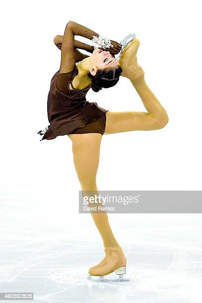 Evgenia Medvedeva of Russia competes in the Junior Ladies Free Skating Final during day two of the ISU Grand Prix of Figure Skating Final 2014/2015...