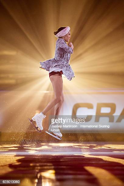 Evgenia Medvedeva of Russia performs during Gala Exhibition on day three of the Trophee de France ISU Grand Prix of Figure Skating at Accorhotels...