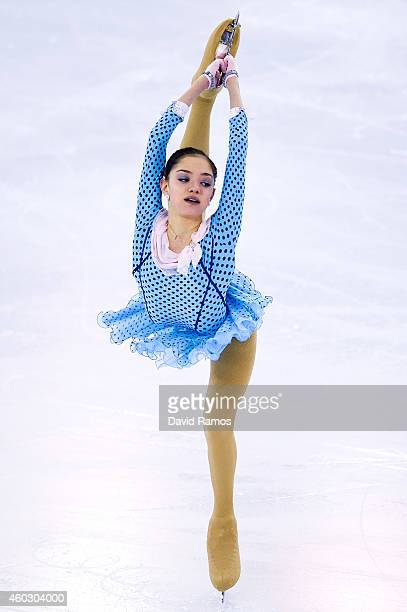 Evgenia Medvedeva of Russia performs during the Junior Ladies Short Program Final during day one of the ISU Grand Prix of Figure Skating Final...