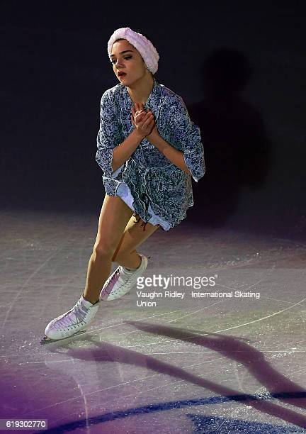 Evgenia Medvedeva of Russia performs in the Exhibition Gala during the ISU Grand Prix of Figure Skating Skate Canada International at Hershey Centre...