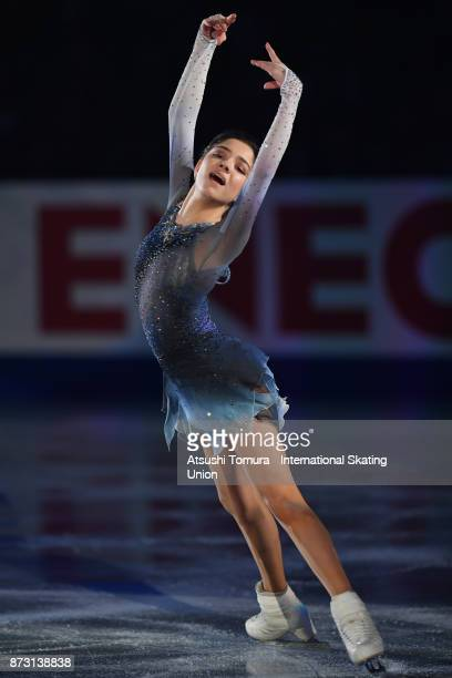Evgenia Medvedeva of Russia performs in the gala exhibition during the ISU Grand Prix of Figure Skating at Osaka municipal central gymnasium on...