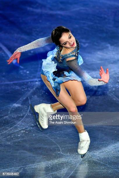 Evgenia Medvedeva of Russia performs in the gala exhibition during day three of the ISU Grand Prix of Figure Skating NHK Trophy at Osaka Municipal...