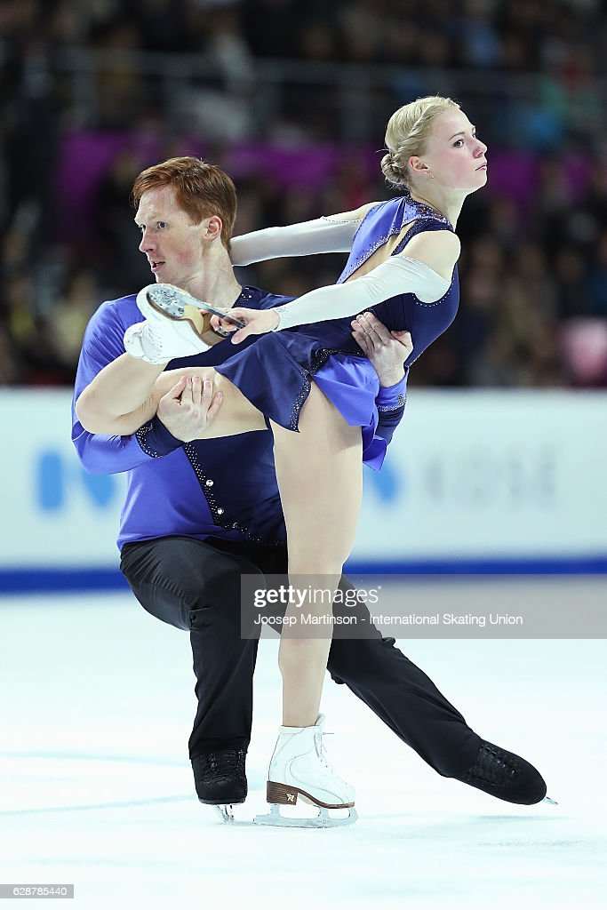 Evgenia Tarasova and Vladimir Morozov of Russia compete during Senior Pairs Free Skating on day two of the ISU Junior and Senior Grand Prix of Figure Skating Final at Palais Omnisports on December 9, 2016 in Marseille, France.