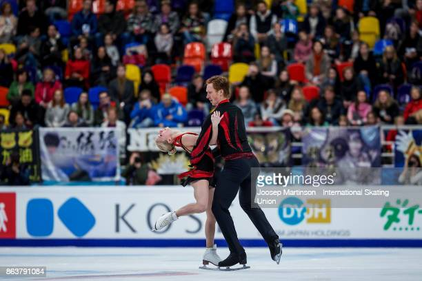 Evgenia Tarasova and Vladimir Morozov of Russia compete in the Pairs Short Program during day one of the ISU Grand Prix of Figure Skating Rostelecom...