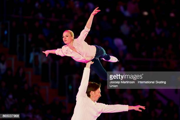 Evgenia Tarasova and Vladimir Morozov of Russia perform in the Gala Exhibition during day three of the ISU Grand Prix of Figure Skating Rostelecom...