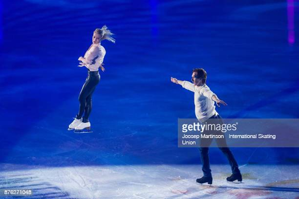 Evgenia Tarasova and Vladimir Morozov of Russia perform in the Gala Exhibition during day three of the ISU Grand Prix of Figure Skating at Polesud...