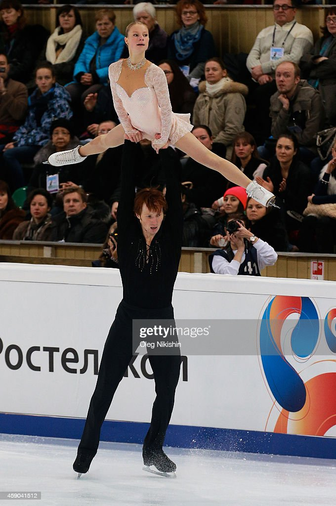 Evgenia Tarasova and <a gi-track='captionPersonalityLinkClicked' href=/galleries/search?phrase=Vladimir+Morozov&family=editorial&specificpeople=6614710 ng-click='$event.stopPropagation()'>Vladimir Morozov</a> of Russia skate in the Pairs Free Skating during ISU Rostelecom Cup of Figure Skating 2014 on November 15, 2014 in Moscow, Russia.