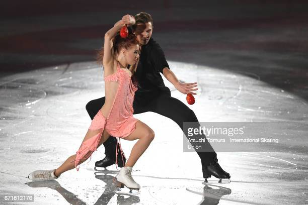 Evgenia Tarasova and Vladmir Morozov of Russia perform in the gala exhibition during the day 4 of the ISU World Team Trophy 2017 on April 23 2017 in...