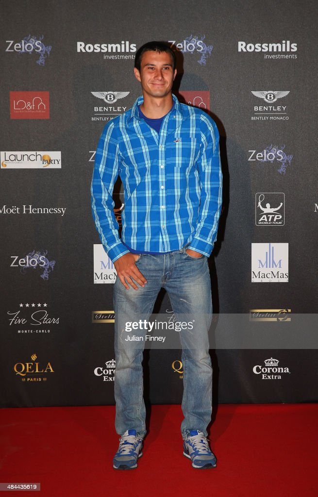 Evgeny Donskoy of Russia during the ATP Monte Carlo Rolex Masters Launch Party at the Grimaldi Forum on April 12, 2014 in Monaco, Monaco.