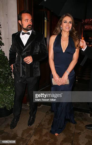 Evgeny Lebedev and Elizabeth Hurley attending the Louis Dundas Centre Dinner on November 26 2014 in London England
