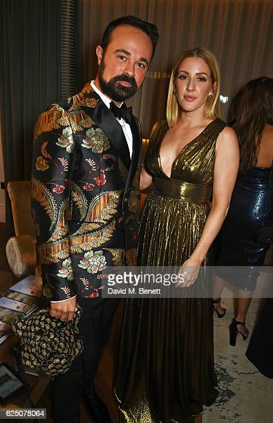 Evgeny Lebedev and Ellie Goulding attend a VIP dinner to celebrate The Animal Ball 2016 presented by Elephant Family at The Arts Club on November 22...