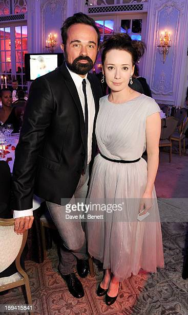 Evgeny Lebedev and Gift of Life cofounder Chulpan Khamatova attend a gala evening celebrating Old Russian New Year's Eve in aid of the Gift Of Life...