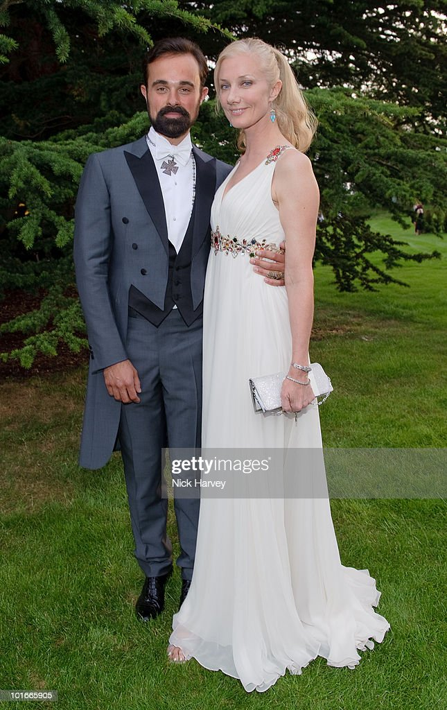 Evgeny Lebedev and Joely Richardson attend the annual Raisa Gorbachev Foundation Party at Stud House, Hampton Court on June 5, 2010 in London, England.