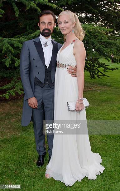 Evgeny Lebedev and Joely Richardson attend the annual Raisa Gorbachev Foundation Party at Stud House Hampton Court on June 5 2010 in London England