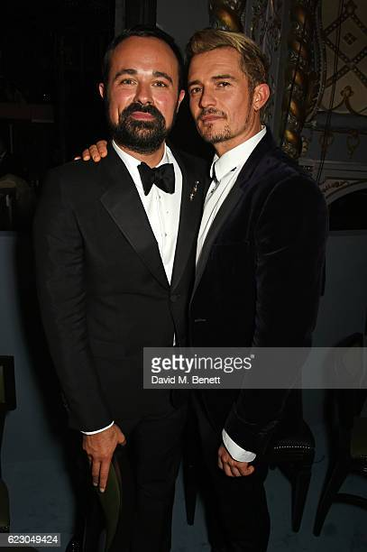 Evgeny Lebedev and Orlando Bloom attend The 62nd London Evening Standard Theatre Awards after party recognising excellence from across the world of...