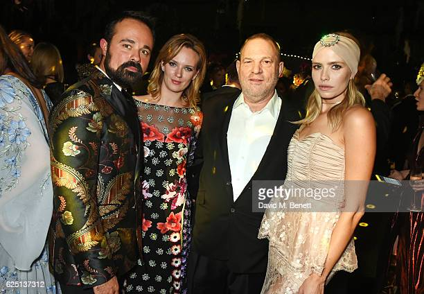 Evgeny Lebedev Charlotte Carroll Harvey Weinstein and Elena Perminova attend The Animal Ball 2016 presented by Elephant Family at Victoria House on...