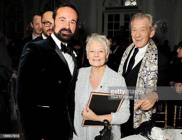 Evgeny Lebedev Dame Judi Dench and Sir Ian McKellen attend an after party following the 58th London Evening Standard Theatre Awards in association...