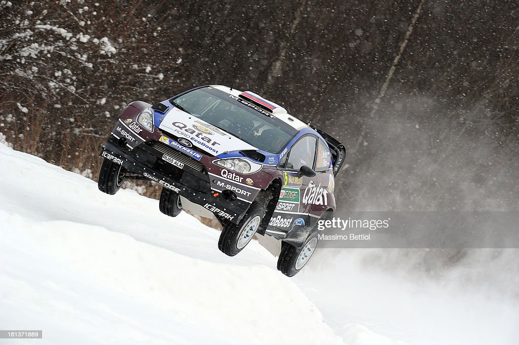 Evgeny Novikov of Russia and Ilka Minor of Austria compete in their Qatar M-Sport WRT Ford Fiesta RS WRC during Day Three of the WRC Sweden on February 10 , 2013 in Karlstad , Sweden.