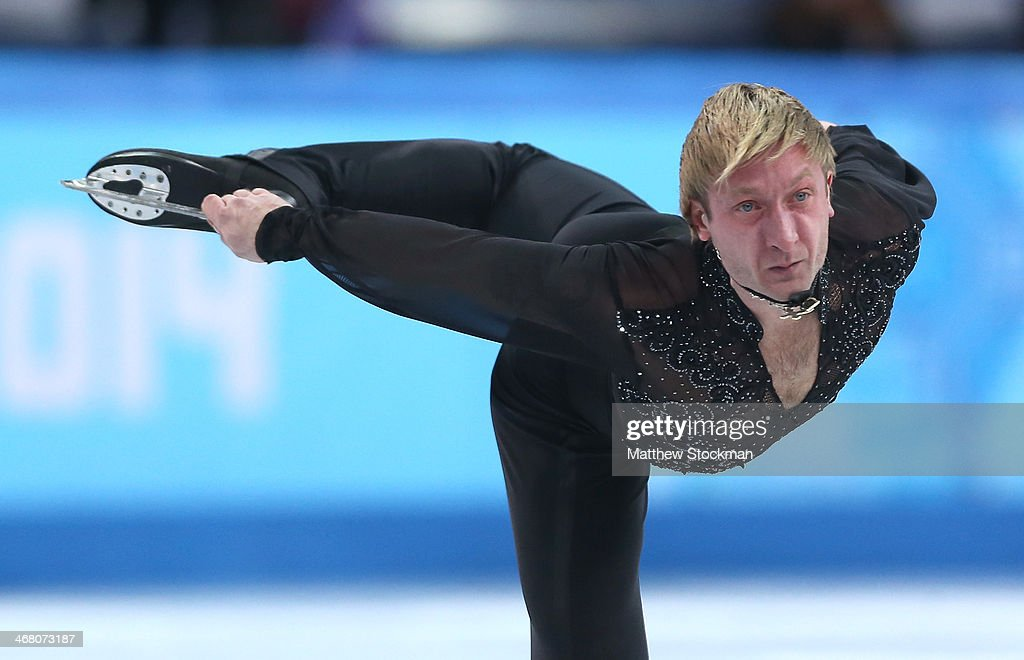 Evgeny Plyushchenko of Russia competes in the Men's Figure Skating Men's Free Skate during day two of the Sochi 2014 Winter Olympics at Iceberg Skating Palace onon February 9, 2014 in Sochi, Russia.