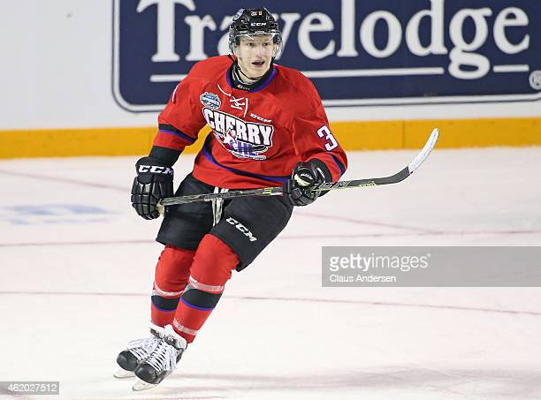 Evgeny Svechnikov of Team Cherry skates against Team Orr in the 2015 BMO CHL/NHL Top Prospects Game at the Meridian Centre on January 22 2015 in...